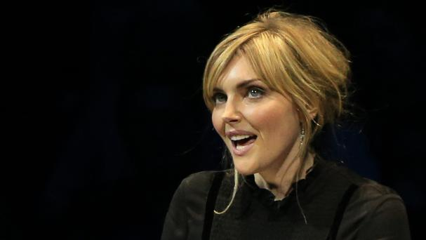 Sophie Dahl reads a letter during the Letters Live event