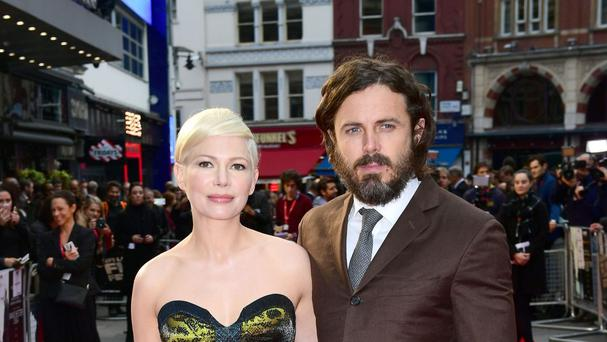 Michelle Williams and Casey Affleck attend the premiere of Manchester By The Sea during the BFI London Film Festival at the Odeon Cinema in London