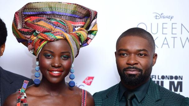 Lupita Nyong'o and David Oyelowo attending the BFI London Film Festival screening of Queen Of Katwe at the Odeon Cinema London