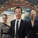 Benedict Cumberbatch with Rachel McAdams and Tilda Swinton.