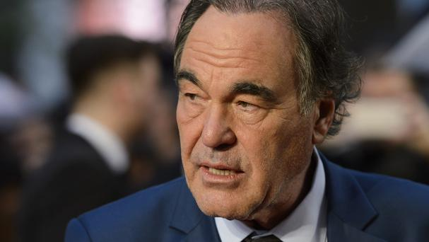 Oliver Stone at a screening of Snowden