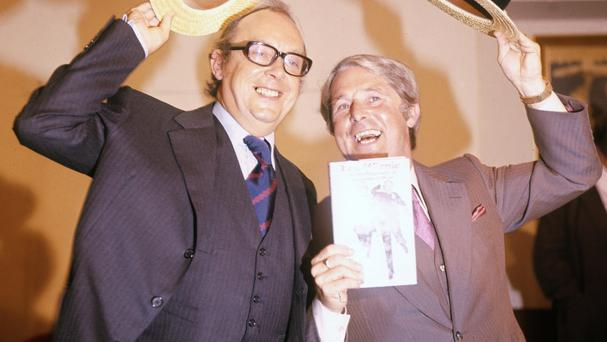 Morecambe and Wise's Singin' In The Rain routine topped a poll of the best film spoof
