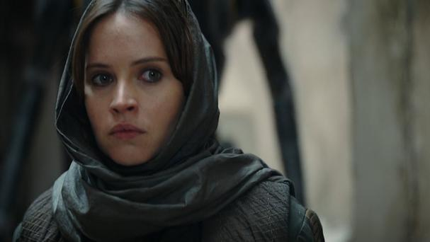 Felicity Jones as Jyn Erso in the new Star Wars anthology film Rogue One (Star Wars YouTube channel/PA)