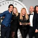 Robbie Ryan, Andrea Arnold and Alice Weinberg with the Best British Independent Film Award for American Honey