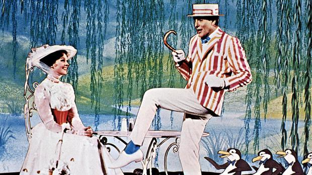 Dick Van Dyke with Julie Andrews in the original Mark Poppins film
