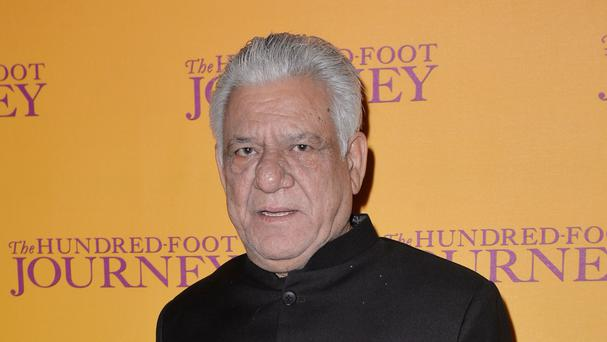 Om Puri pictured at the gala screening of The Hundred Foot Journey in London in 2014, as his death at the age of 66 was announced