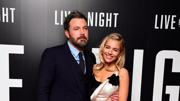 Sienna Miller and Ben Affleck attend the Live By Night premiere at the BFI Southbank, London