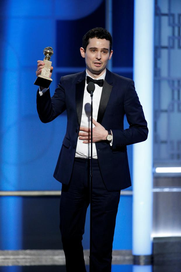 Golden Globe: Damien Chazelle with the award for Best Screenplay