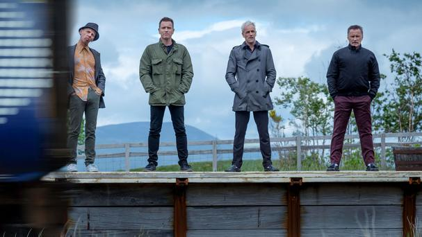 The film sees the four main characters reunited in middle age (Sony Pictures/PA Wire)