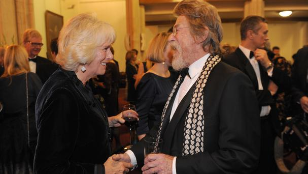Sir John Hurt meets the Duchess of Cornwall