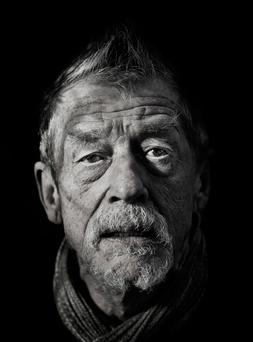EVERY CREASE TELLS A STORY: The late John Hurt, pictured in 2013. Photo: David Conachy
