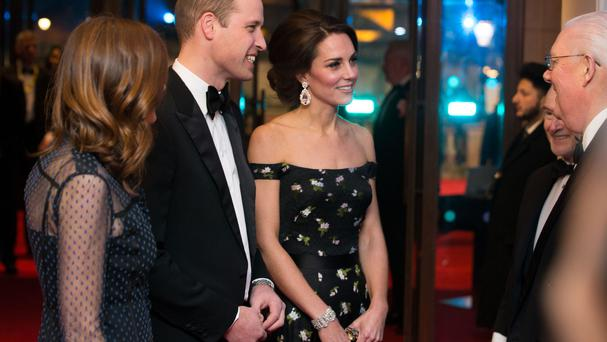 The Duke and Duchess of Cambridge meet with members of Bafta.
