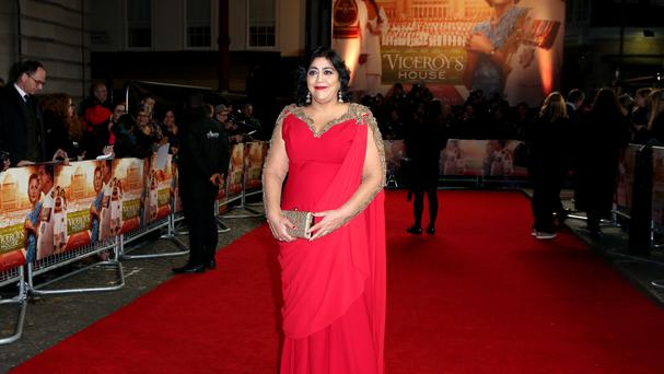 Gurinder Chadha attends the premiere of Viceroy's House at the Curzon Mayfair Cinema, London