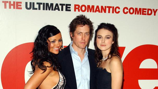 File photo of Martine McCutcheon, Hugh Grant and Keira Knightley at the premiere of Love Actually