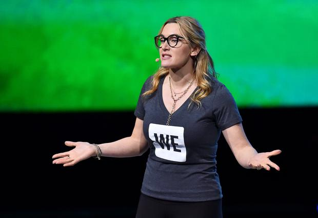 Kate Winslet on stage at the We Day UK charity event and concert, The SSE Arena, London.