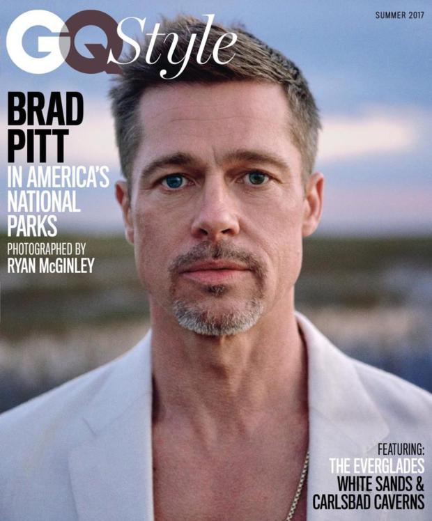 Brad Pitt on the cover of GQ Style