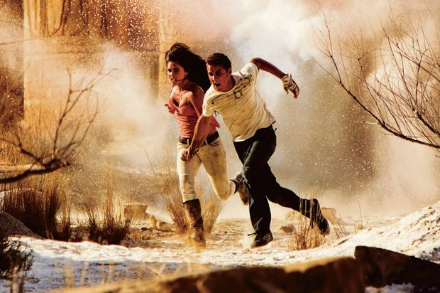 Megan Fox as Mikaela Banes and Shia LaBeouf as Sam Witwicky in Transformers: Revenge of the Fallen