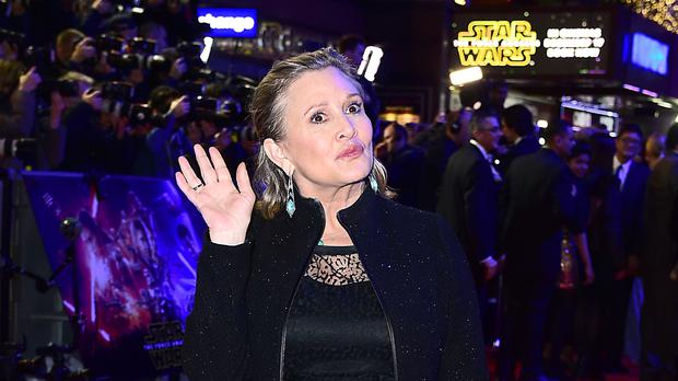 Carrie Fisher appears in the new teaser (Ian West/PA)