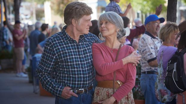 Robert Redford and Jane Fonda (Kerry Brown/Netflix)