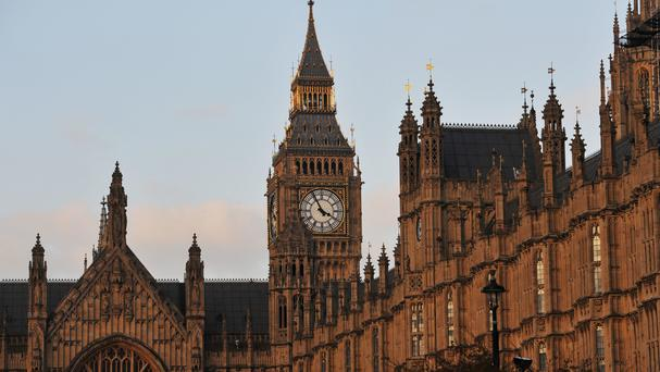 The Palace of Westminster. Stock picture