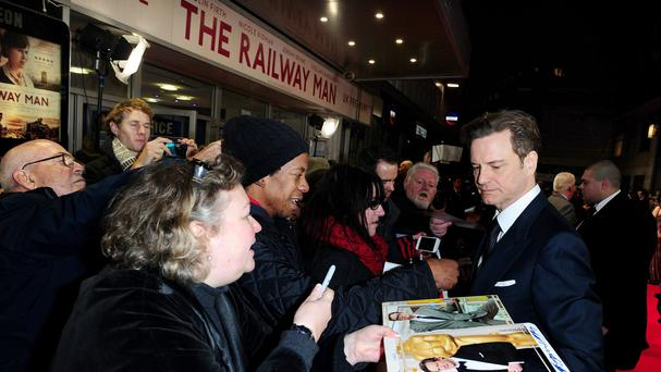 Colin Firth attending the UK film premiere of The Railway Man (Ian West/PA)