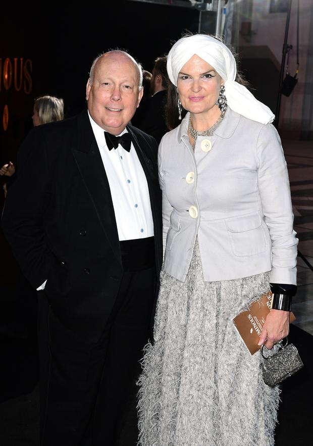 Lord and Lady Fellowes attending the BFI Luminous Fundraising Gala