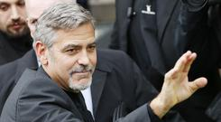 George Clooney visit to Scotland