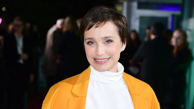 Kristin Scott Thomas attends the premiere of The Party as part of the BFI London Film Festival