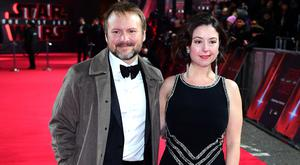 Rian Johnson and guest (Ian West/PA)