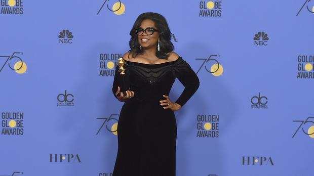 Oprah Winfrey was honoured with the Cecil B DeMille award at the Golden Globes