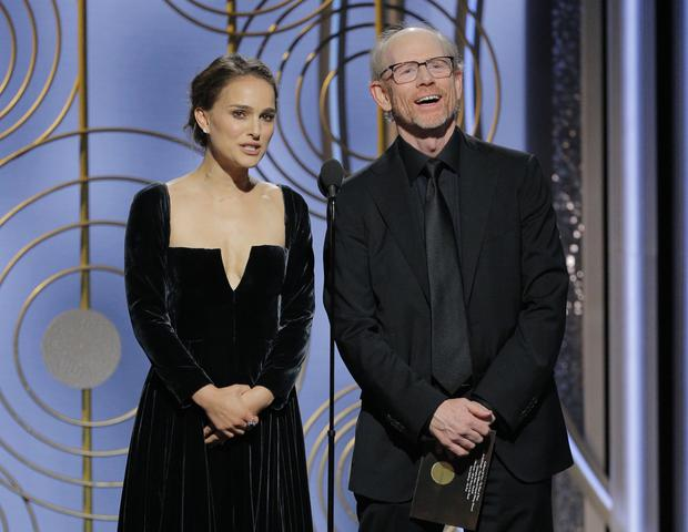 Natalie Portman and Ron Howard (Paul Drinkwater/NBC via AP)