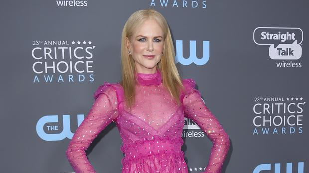 Critics' Choice Awards winner Nicole Kidman wore pink. (Jordan Strauss/Invision/AP)