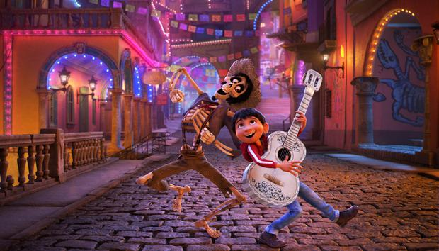 The characters Miguel and Hector from Coco
