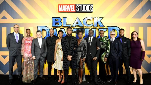 The cast and crew of Black Panther (Ian West/PA)