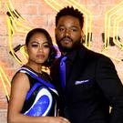 Director Ryan Coogler and his wife Zinzi Evans (Ian West/PA)