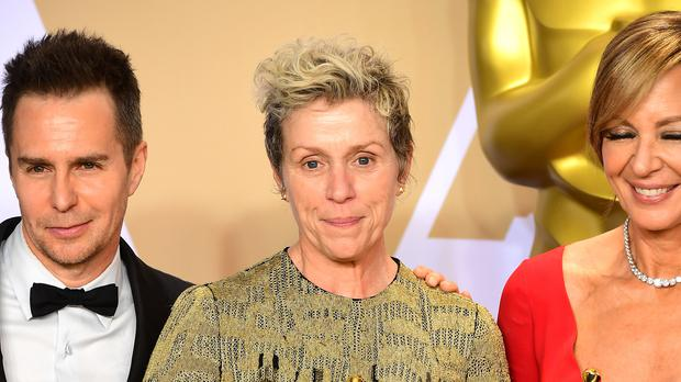 Frances McDormand with her best actress Oscar