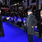Simon Pegg (left) and Steven Spielberg at Ready Player One's European premiere (Ian West/PA)
