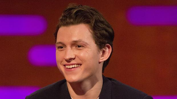 Tom Holland during filming of The Graham Norton Show (PA Images on behalf of So TV)