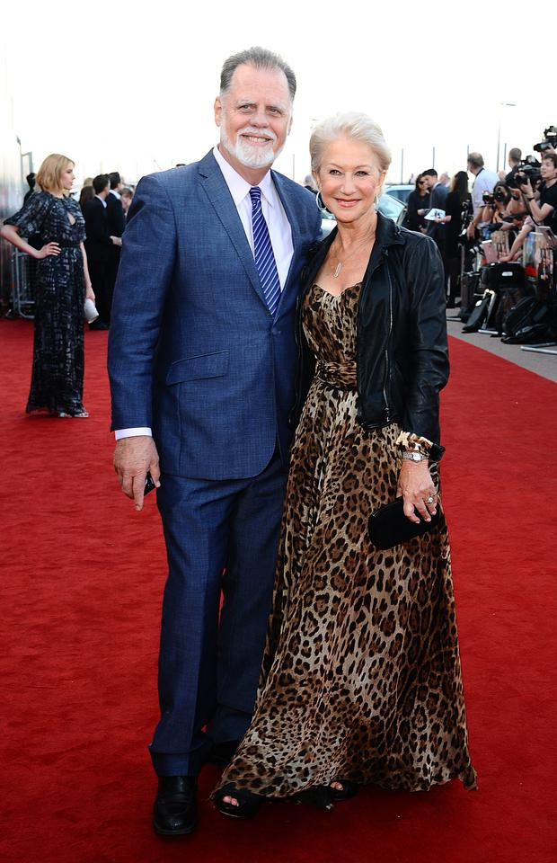 Dame Helen Mirren and husband Taylor Hackford (Ian West/PA)