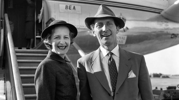 Actor Peter Cushing and his wife Helen, as it was revealed the Star Wars actor is to be honoured with a blue plaque (PA)