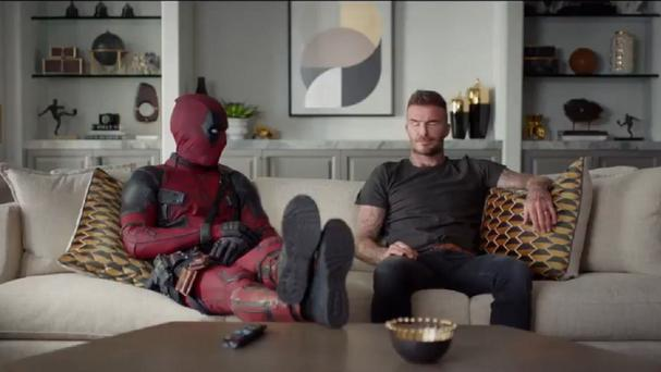Deadpool and David Beckham share a scene(20th Century Fox)