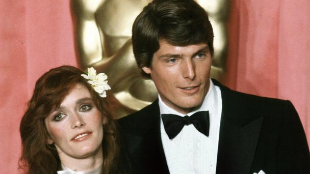 Margot Kidder, left, and actor Christopher Reeve at the 51st Annual Academy Awards (Reed Saxon/AP)