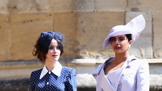 Suits actress Abigail Spencer and Bollywood actress Priyanka Chopra (Chris Jackson/PA)
