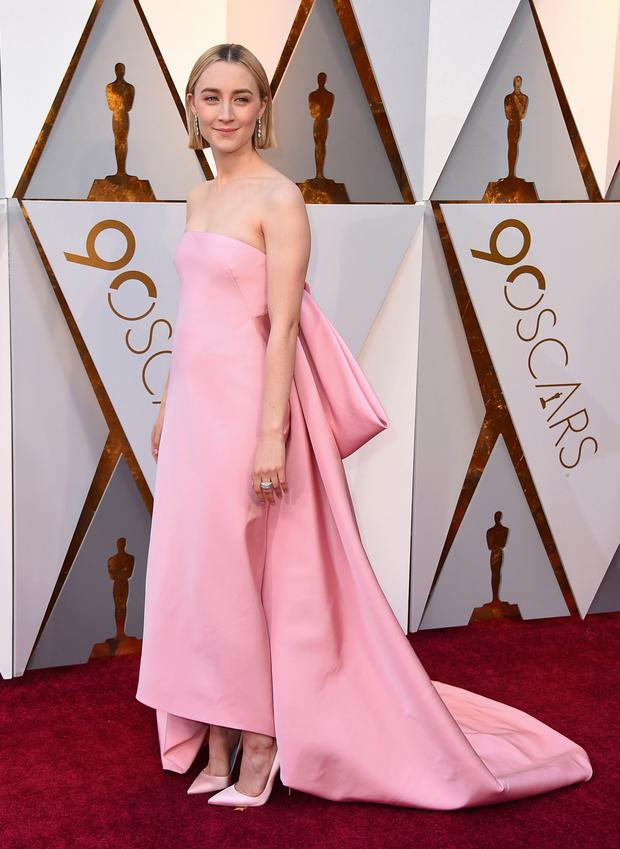 Saoirse Ronan at the Oscars earlier this year, where she was nominated for Best Actress