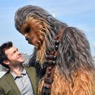 Alden Ehrenreich and Chewbacca appear in Solo: A Star Wars Story (Matt Crossick/PA)