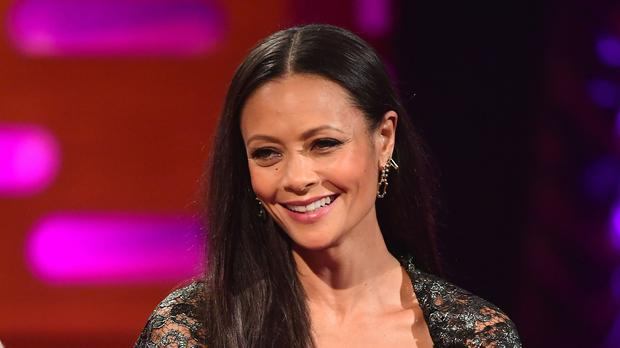 Thandie Newton while filming the filming The Graham Norton Show (Ian West/PA)