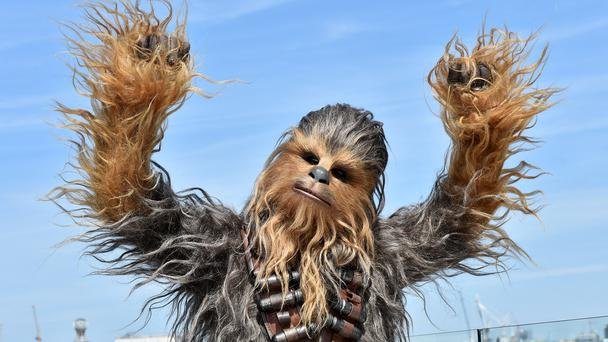 Chewbacca, one of the characters in Solo: A Star Wars Story (PA)