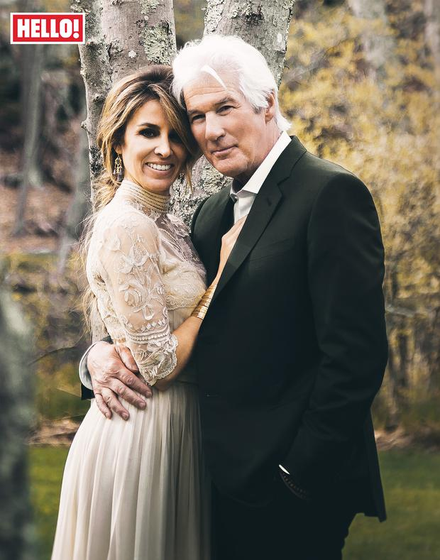 Richard Gere And Alejandra Silva On Their Wedding Day In April Hello
