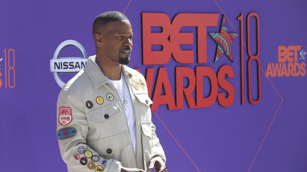 Jamie Foxx honoured Black Panther as he opened the 2018 BET Awards (Willy Sanjuan/Invision/AP)