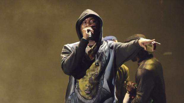Meek Mill performs Stay Woke at the BET Awards in Los Angeles (Richard Shotwell/Invision/AP)